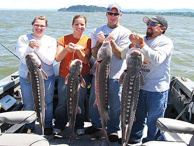 Columbia River Estuary Sturgeon Fishing
